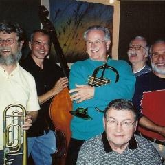 Boneyard Jazz Quartet + one (Mike Gabriel, far right, an original member of the group)