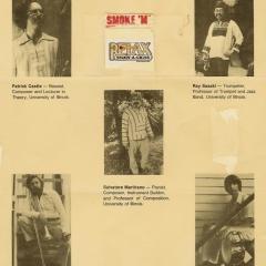 Quintet (JQ) with Pat Castle, Ray Sasaki, Sal Martirano, Morgan and John Meyers ca. 1979