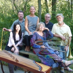 2010, with Compost Q music-dance-improvisation collective. Erik Lund, Dorothy Martirano, Kirstie Simson, Armand Beaudoin, Yu-Chen Wang