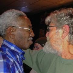 Morgan with singer Don Smith, 2015