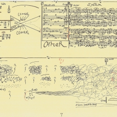 One page of FFFF score, 1993, by Morgan Powell
