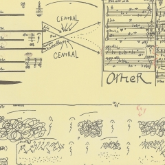 Page of FFFF score, 1992 by Morgan Powell