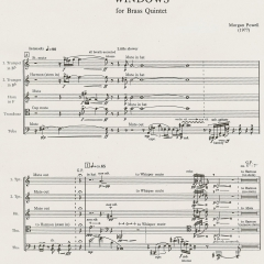 Windows for Brass Quintet, 1977 page 2