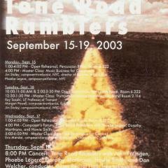 TRR poster - Austin, Texas 2003